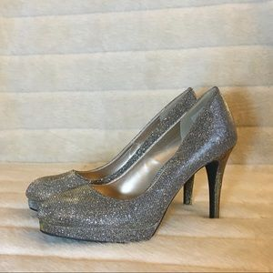 Shiny Gold-Silver Heels